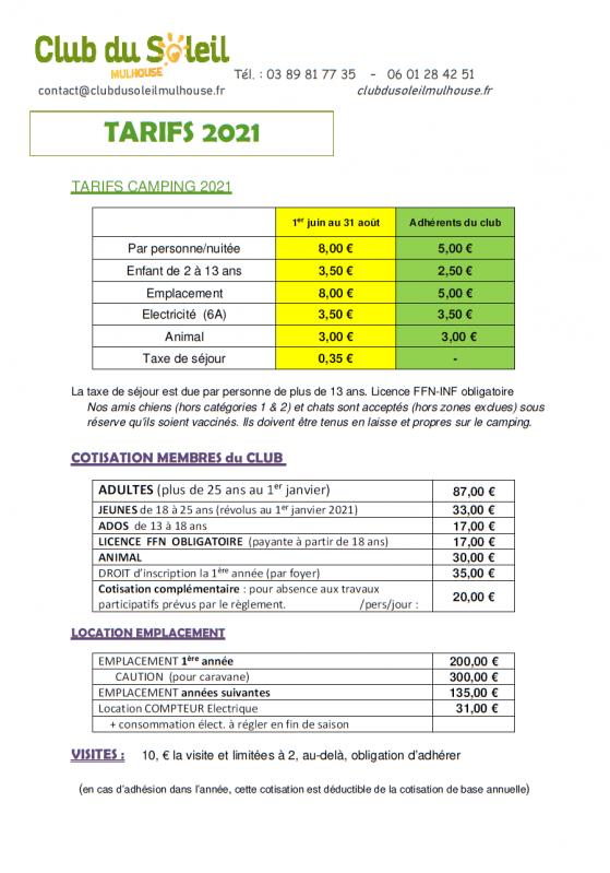 Csm tarif 2020